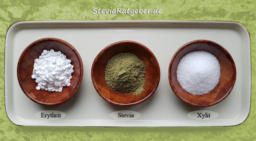 Stevia, Xylit/ Xucker/ Birkenzucker und Erythrit